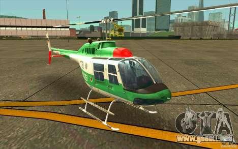 Bell 206 B Police texture3 para GTA San Andreas left