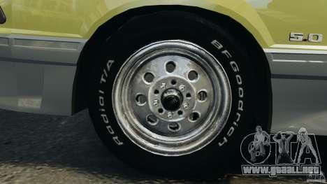 Ford Mustang GT 1993 v1.1 para GTA 4 vista superior