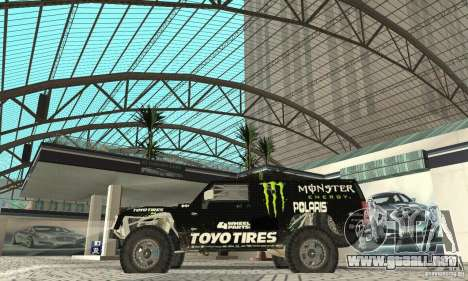 Hummer H3 Baja Rally Truck para GTA San Andreas vista posterior izquierda