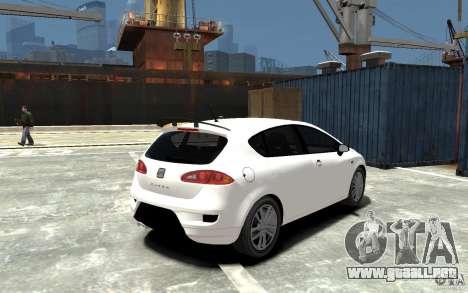 Seat Leon Cupra Light Tuning para GTA 4 visión correcta