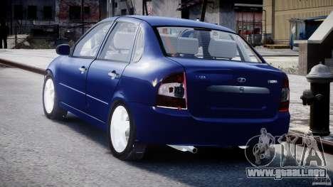 1118-Vaz Kalina para GTA 4 Vista posterior izquierda