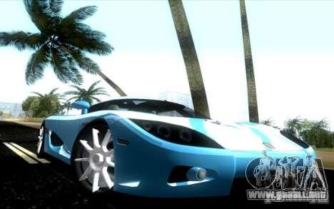 Koenigsegg CCX para GTA Vice City visión correcta