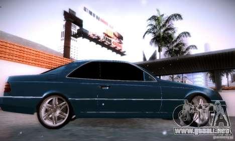 Mercedes-Benz 600SEC para GTA San Andreas left