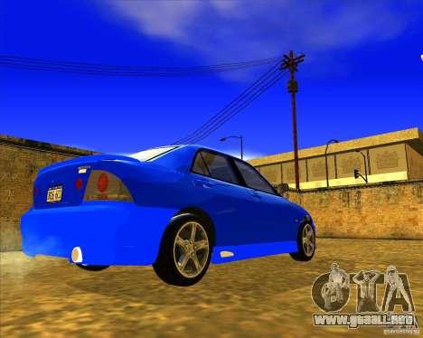 Toyota Altezza RS200 1998 para GTA San Andreas vista posterior izquierda