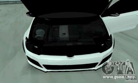Volkswagen Golf R Modifiye para GTA San Andreas vista hacia atrás