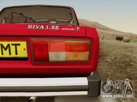 Lada 2105 RIVA (exportación) 2.0 para vista lateral GTA San Andreas