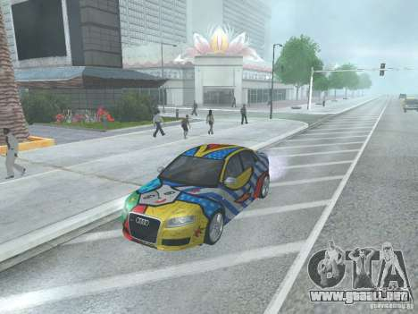 Audi RS 4 para GTA San Andreas vista posterior izquierda