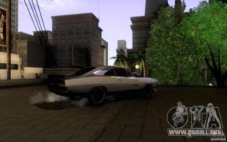 Dodge Charger RT para GTA San Andreas vista posterior izquierda