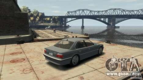 BMW 740i E38 para GTA 4 Vista posterior izquierda