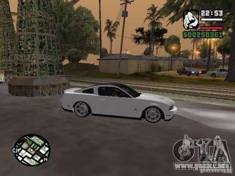 Ford Mustang GT B&W para la visión correcta GTA San Andreas