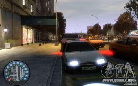 VAZ 2109 Daguestán tuning para GTA 4 left