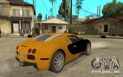 Bugatti Veyron v1.0 para la visión correcta GTA San Andreas