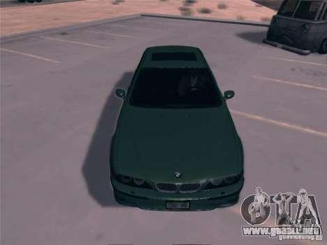 BMW M5 E39 2003 para GTA San Andreas vista posterior izquierda