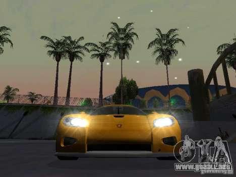 Koenigsegg CCX para GTA San Andreas vista hacia atrás