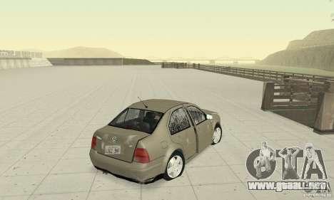 Volkswagen Bora Stock para vista lateral GTA San Andreas