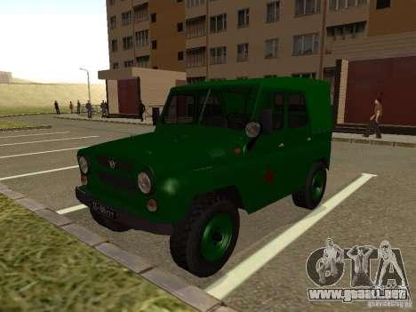 UAZ 469 militar para GTA San Andreas