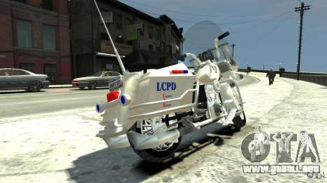 Police Bike para GTA 4 Vista posterior izquierda