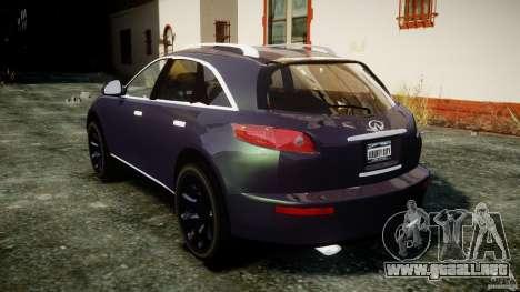 Infiniti FX45 2006 [Beta] para GTA 4 vista lateral