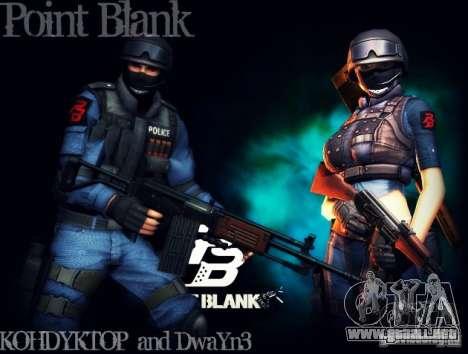 SWAT de quemarropa para GTA San Andreas