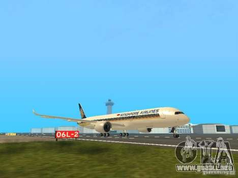 Airbus A350-900 Singapore Airlines para GTA San Andreas left