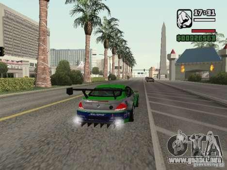 Alpina B6 GT3 para GTA San Andreas vista hacia atrás