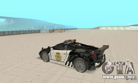 Lamborghini Gallardo Cop V1.0 para la visión correcta GTA San Andreas