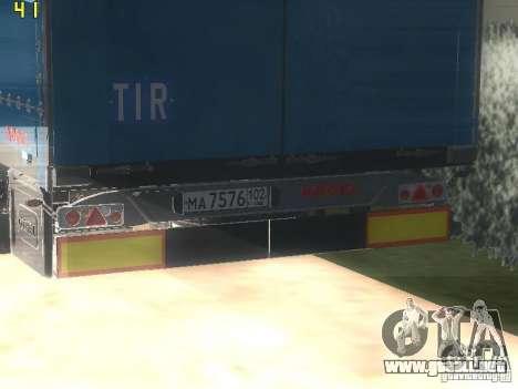 Remolque NEFAZ-93341-10-07 para la visión correcta GTA San Andreas