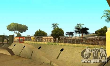 La cerca alrededor del surco Sreet para GTA San Andreas quinta pantalla
