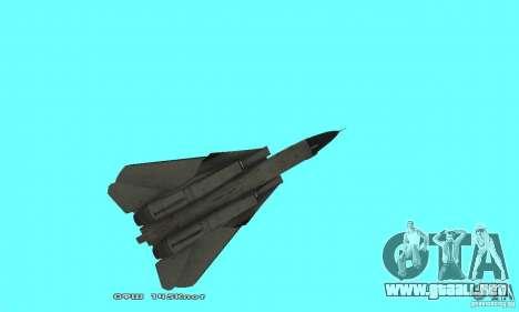 F14W Super Weirdest Tomcat Skin 2 para vista lateral GTA San Andreas