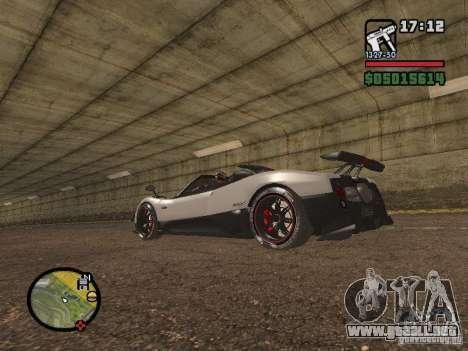 Pagani Zonda Cinque Roadster V2 para GTA San Andreas left