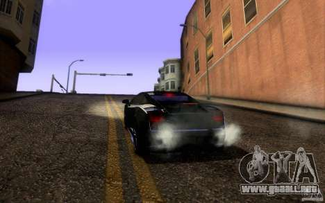 Lamborghini Gallardo Superleggera para la vista superior GTA San Andreas