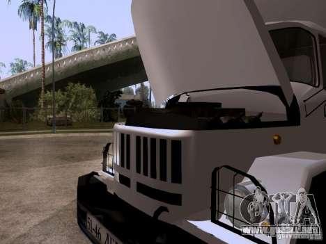 ZIL 131 para GTA San Andreas vista hacia atrás