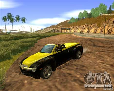 Chevrolet SSR para GTA San Andreas vista hacia atrás