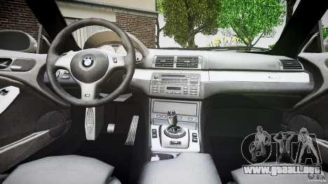 BMW M3 e46 v1.1 para GTA 4 vista desde abajo