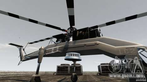 SkyLift Helicopter para GTA 4 vista hacia atrás