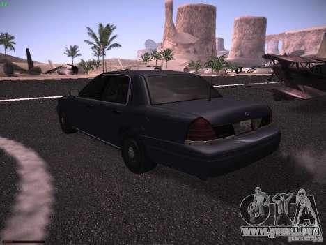 Ford Crown Victoria 2003 para GTA San Andreas vista posterior izquierda