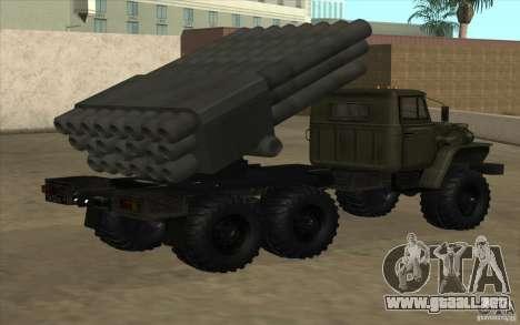 Ural 4320 Grad v2 para GTA San Andreas left