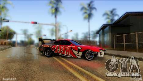 Toyota Supra HELL para GTA San Andreas vista posterior izquierda