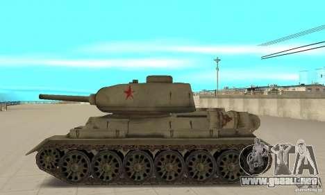 Tanque T-34-85 para GTA San Andreas left