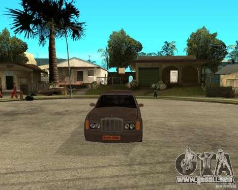 Rolls Royce Silver Seraph para GTA San Andreas vista hacia atrás