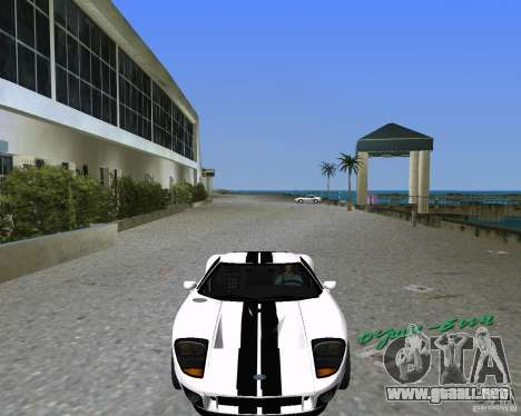Ford GT para GTA Vice City left