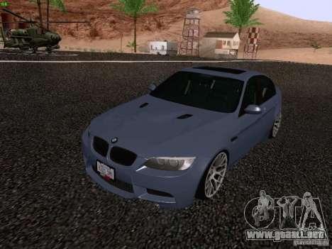 BMW M3 E90 Sedan 2009 para la visión correcta GTA San Andreas