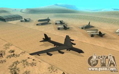Boeing B-52 Stratofortress para la visión correcta GTA San Andreas