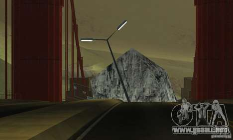 Puente destruido en San Fierro para GTA San Andreas quinta pantalla