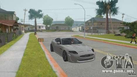 Jaguar XKR-S para GTA San Andreas vista hacia atrás