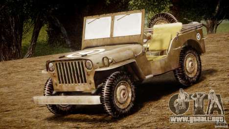 Jeep Willys [Final] para GTA 4 left