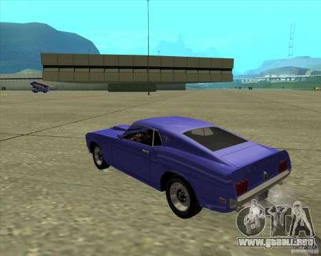 Ford Mustang Boss 429 1969 para la visión correcta GTA San Andreas