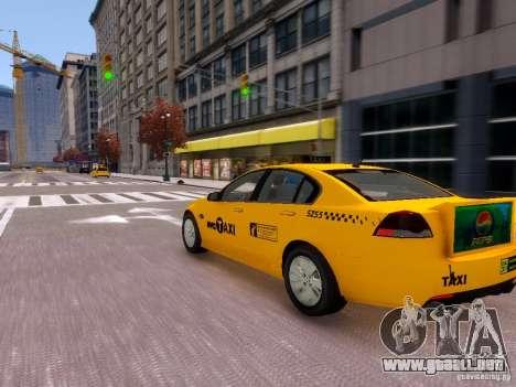 Holden NYC Taxi V.3.0 para GTA 4 vista hacia atrás