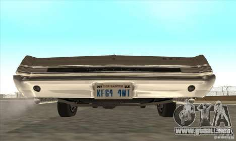 Pontiac GT-100 para GTA San Andreas vista posterior izquierda