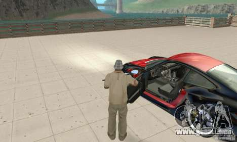 Porsche 911 GT2 NFS Undercover para GTA San Andreas vista hacia atrás